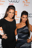 Khloe Kardashian. And Kim Kardashian  at The Trevor Project's 12th Annual Cracked Christmas, Wiltern Theater, Los Angeles, CA. 12-06-09 Stock Images