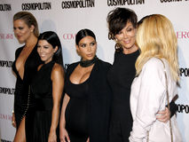 Khloe Kardashian, Kourtney Kardashian, Kim Kardashian, Kris Jenner e Kylie Jenner Imagem de Stock Royalty Free