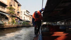 Khlong Boats stock footage