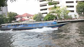 Khlong Boats stock video footage