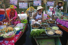 The Khlong Hae Floating Market in Songkhla Stock Photo