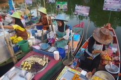 The Khlong Hae Floating Market in Songkhla Royalty Free Stock Image