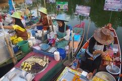The Khlong Hae Floating Market in Songkhla Royalty Free Stock Image