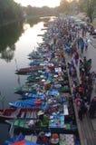 The Khlong Hae Floating Market in Songkhla Stock Photos