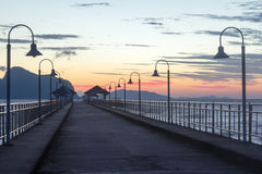 Khlong Kian Pier at dawn Royalty Free Stock Photo
