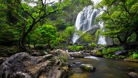 Khlong Lan瀑布 库存图片