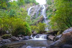 Khlong Lan waterfall is a beautiful Waterfalls in the rain forest jungle Thailand royalty free stock photos
