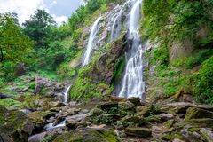 Khlong Lan waterfall is a beautiful Waterfalls in the rain forest jungle Thailand royalty free stock photography