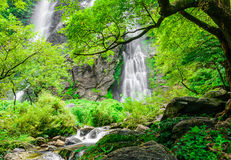 Khlong lan waterfall, famous natural tourist attraction in Thail Royalty Free Stock Image
