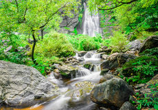 Khlong lan waterfall, famous natural tourist attraction in Thail Royalty Free Stock Photography