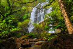Khlong Lan waterfall. Kamphaeng Phet Province, Thailand Royalty Free Stock Photography