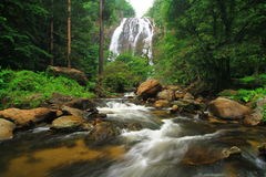Khlong Lan waterfall , Khlong Lan National Park Thailand royalty free stock photo