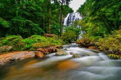 Khlong Lan Waterfall Namtok Khlong Lan. In Kamphaeng Phet Province, Thailand Royalty Free Stock Image