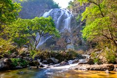 Khlong lan waterfall in National park. Kamphaeng Phet Province, Thailand Stock Photos