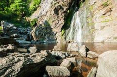 Khlong Lan waterfall of natural park Stock Photography