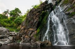 Khlong Lan waterfall of natural park, Thailand. Khlong Lan waterfall of natural park landscape, landmark for traveler in Thailand Royalty Free Stock Photo