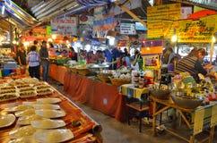 Khlong Lat Mayom floating market in Bangkok. Food stalls at Khlong Lat Mayom floating market in Bangkok, Thailand royalty free stock photos