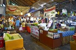 Khlong Lat Mayom floating market in Bangkok. Food stalls at Khlong Lat Mayom floating market in Bangkok, Thailand stock image
