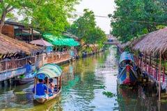 Khlong lat Mayom floating market royalty free stock images