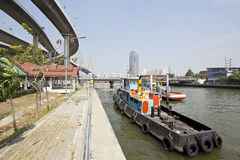 Khlong Lat Pho Flood Gate Royalty Free Stock Image