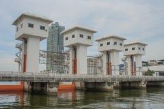 The Khlong Lat Pho Floodgate Project, Thailand. Stock Images