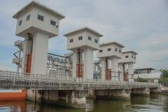 The Khlong Lat Pho Floodgate Project, Thailand. Royalty Free Stock Image