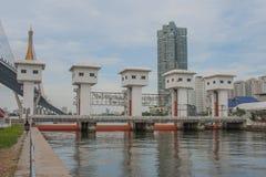 The Khlong Lat Pho Floodgate Project, Thailand. Stock Photography