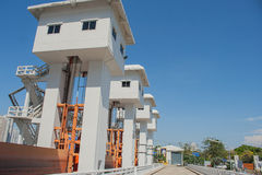 The Khlong Lat Pho Floodgate Project, Thailand. Royalty Free Stock Photo