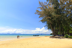 Khlong Muang海滩,泰国 免版税图库摄影