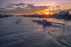 khlong Saphaamit, canal de Saphasamit Imagem de Stock Royalty Free