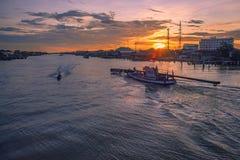 Khlong Saphaamit, Saphasamit canal. Shoot on the bridge royalty free stock image