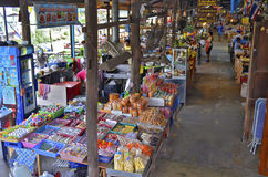 Khlong Suan Centenary Market near Bangkok, Thailand. This 100 years old market along a klong, about 20 km East of Bangkok Suvarnabhumi Airport, is a big bazaar stock image