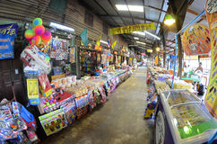 Khlong Suan Centenary Market near Bangkok, Thailand. This 100 years old market along a klong, about 20 km East of Bangkok Suvarnabhumi Airport, is a big bazaar Royalty Free Stock Image