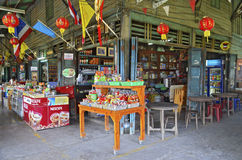 Khlong Suan stulecia rynek blisko Bangkok, Tajlandia Zdjęcia Royalty Free