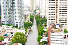 Khlong Thailand. Arkivfoto