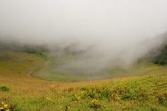 Khmelevsky jezioro w chmurach Obraz Royalty Free