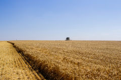 Khmelnitskiy,乌克兰- 7月23 :现代约翰Deere组合harve 库存图片