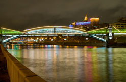 khmelnitsky kievsky gångare för bogdan bro Arkivbilder