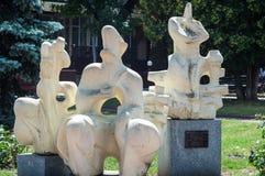 KHMELNITSKY, UCRANIA - 29 DE JULIO DE 2017: Motivo ucraniano, escultor Foto de archivo