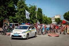 Khmelnitsky Ukraina, Maj, - 31, 2015 Samochód nowa policja e Obraz Royalty Free