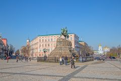 The Khmelnytsky Monument Royalty Free Stock Image