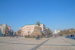 The Khmelnytsky Monument in Kiev Royalty Free Stock Photography