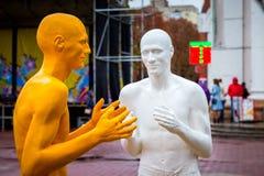 Khmelnytskyi Украина Октябрь 2018 Скульптуры v Sidorenko стоковая фотография