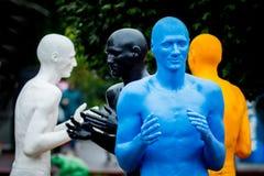 Khmelnytskyi ucrania En octubre de 2018 Esculturas por V Sidorenko foto de archivo