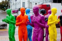 Khmelnytskyi ucrania En octubre de 2018 Esculturas por V Sidorenko foto de archivo libre de regalías
