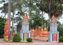 Khmer świątynia w Mekong delcie, Wietnam obraz royalty free