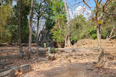 Khmer αρχιτεκτονική σε Angkor σύνθετο, Καμπότζη Στοκ εικόνα με δικαίωμα ελεύθερης χρήσης