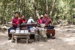 Khmer μουσικοί Στοκ Φωτογραφία