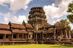 Khmer ναός σε Angkor στην Καμπότζη Στοκ φωτογραφία με δικαίωμα ελεύθερης χρήσης