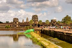 Khmer ναός σε Angkor στην Καμπότζη Στοκ φωτογραφίες με δικαίωμα ελεύθερης χρήσης